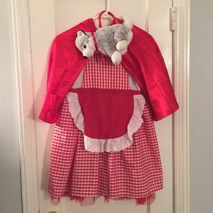 Gymboree Size 10-12 Red Riding Hood Dress Costume